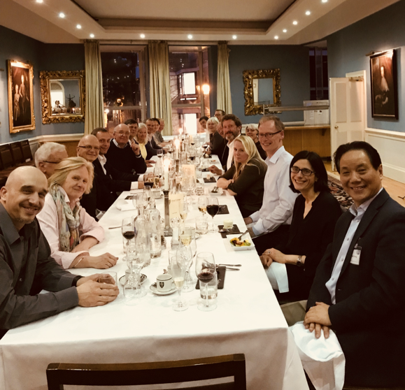 Dinner at Professor Cheng's Visit to Oxford
